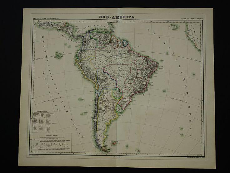 Best Old Maps America Images On Pinterest Antique Maps - Argentina map vintage