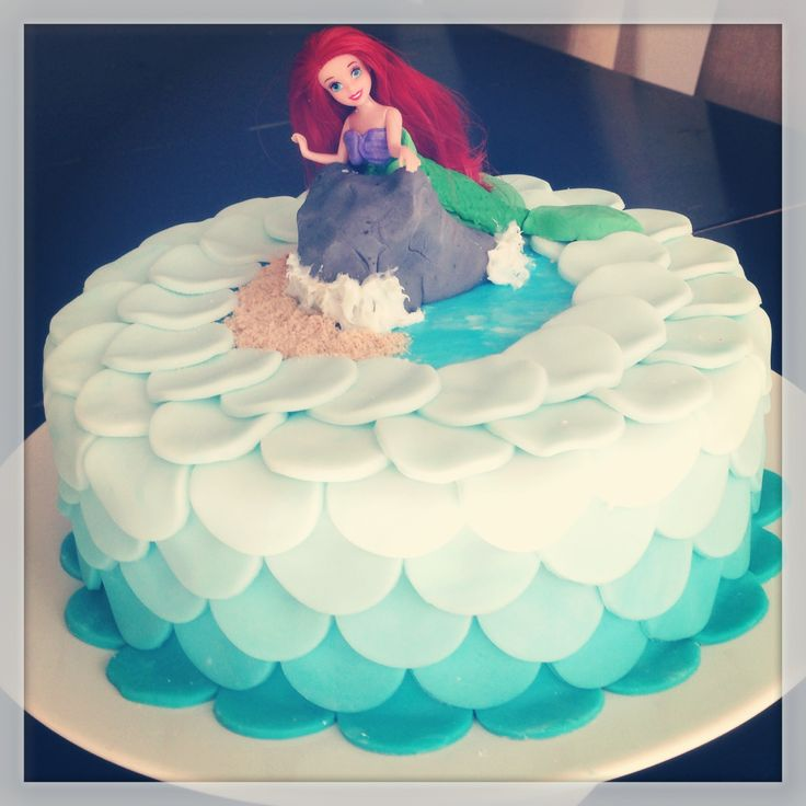 Ariel little mermaid cake my masterpieces pinterest for Ariel cake decoration