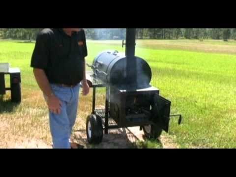 Ben Lang demonstrates starting a fire in a Lang 36