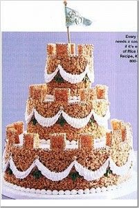Rice Krispies :: Not Your Typical Wedding Cake