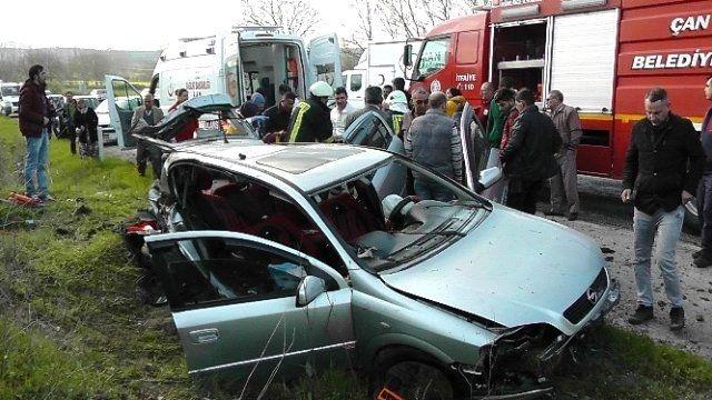Otomobil toprak zemine çarparak takla attı 1'i ağır 2 yaralı!..