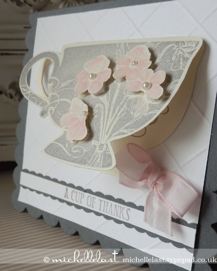 wedding thank you cards time limit%0A A cup of thanks using Tea Shoppe from Stampin u     Up   Stampin Up  Demonstrator Michelle Last