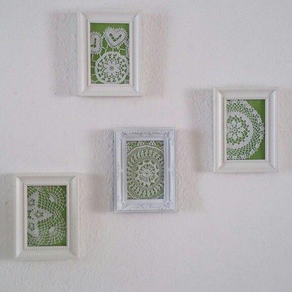 csipkés fali dekoráció / lacy wall decoration