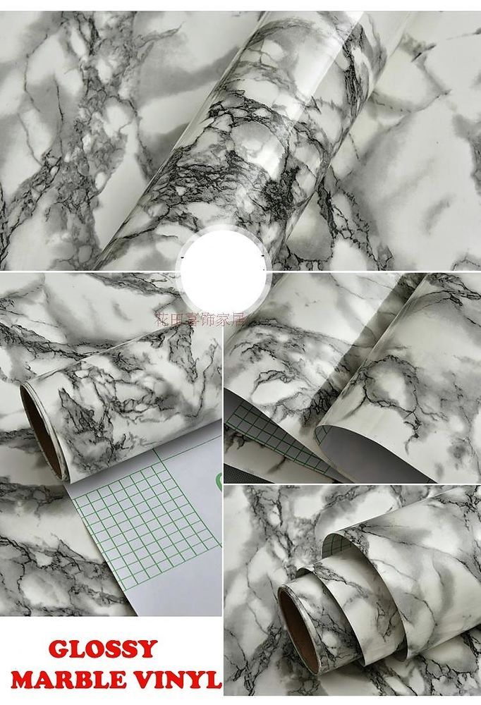 Details about Self Adhesive Marble Granite Contact Paper Glossy Peel