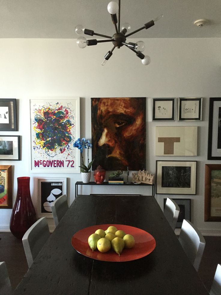 Gallery wall at Casa Levine. Toronto apartment.