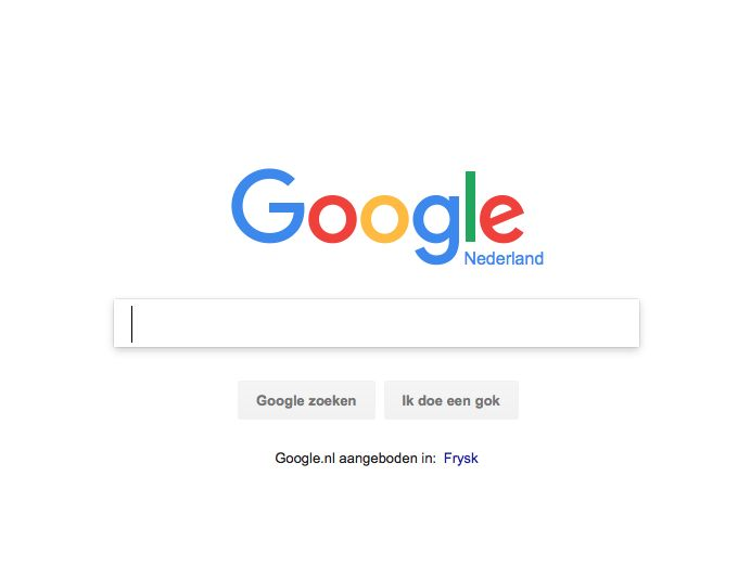 De pattern is clear entry point.  Het gaat om de website van google.