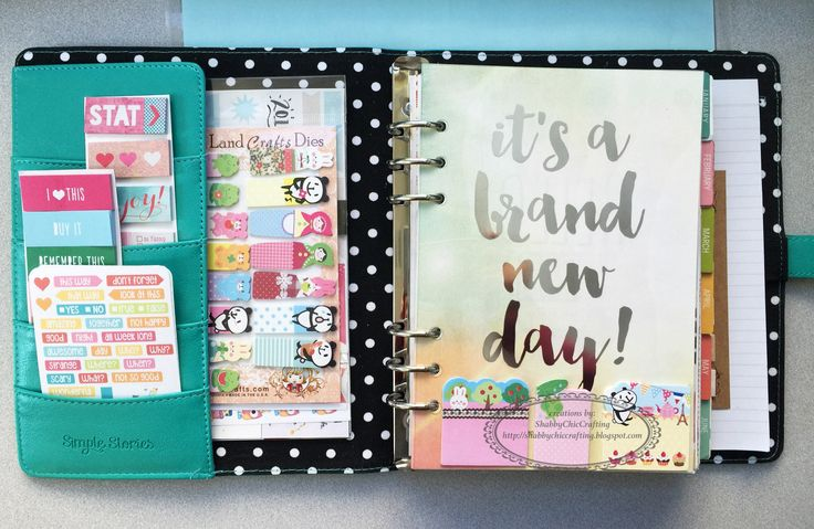 Dressing Up Simple Stories Carpe Diem Planner 2016