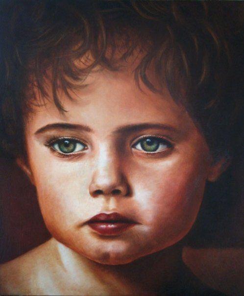 Retrato Niño - Óleo sobre tela