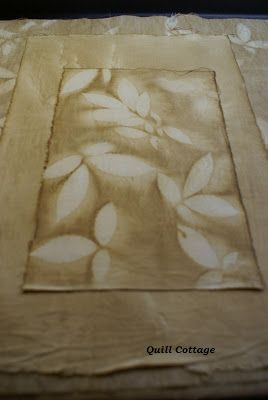 Quill Cottage: SUN PRINTING FABRIC WITH COFFEE AND NATURE ELEMENTS...