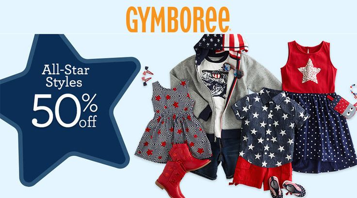Online Only! Take 50% off all star styles.  Store : #Gymboree Scope: Entire Store Ends On : 06/09/2017  Get more deals: http://www.geoqpons.com/Gymboree-coupon-codes  Get our Android mobile App: https://play.google.com/store/apps/details?id=com.mm.views    Get our iOS mobile App: https://itunes.apple.com/us/app/geoqpons-local-coupons-discounts/id397729759?mt=8