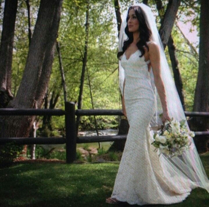 Brie Bella's wedding dress from Katie May Collection is absolute perfection.