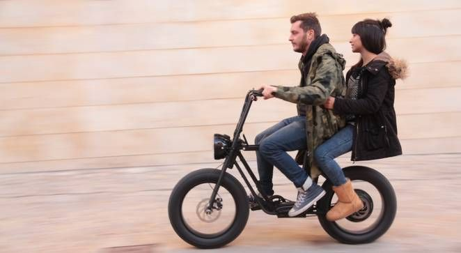 MOKE is a powerful electric fat tire utility bike that seats two