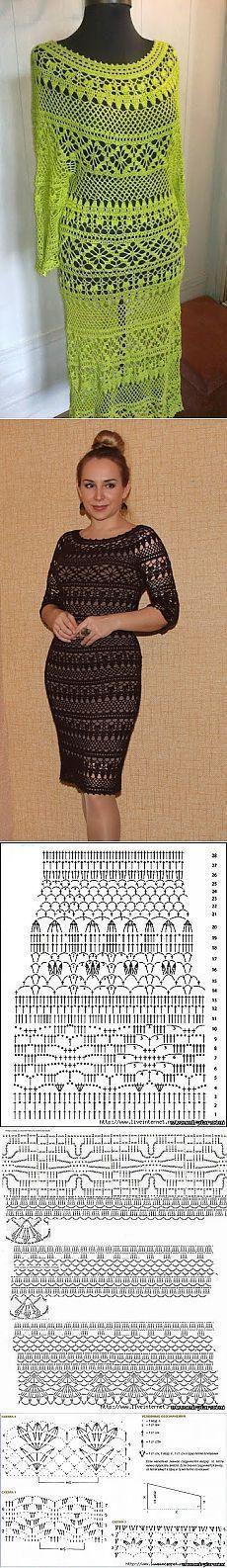 ◇◆◇ Vestido de franjas con esquema