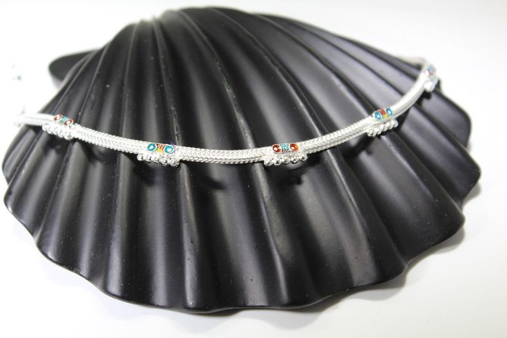 2PC HANDMADE Solid Silver Payal 925 sbb22 Sterling adult ladies Anklets