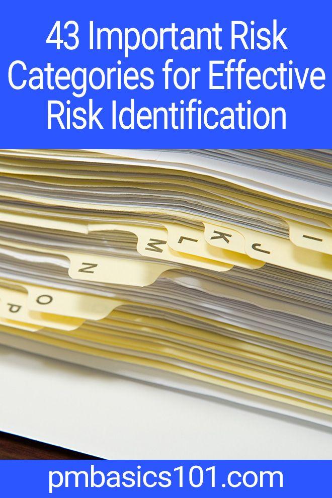 43 Risk Categories: Complete List of Categories of Risks | Risk ...
