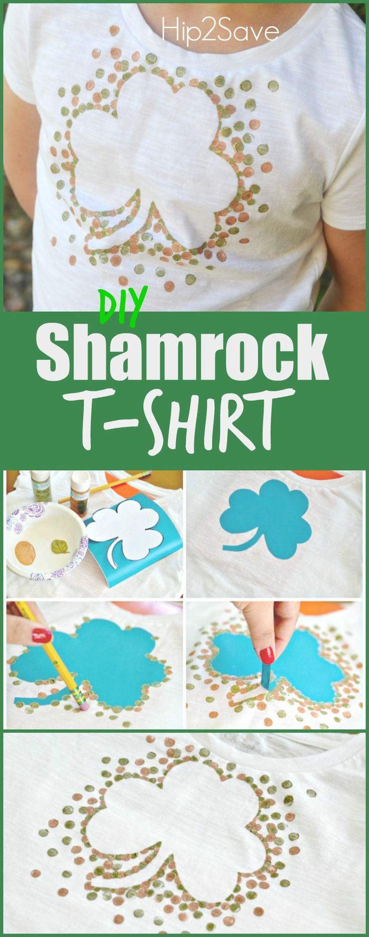 DIY Shamrock T-Shirt (St. Patrick's Day Craft) – Hip2Save