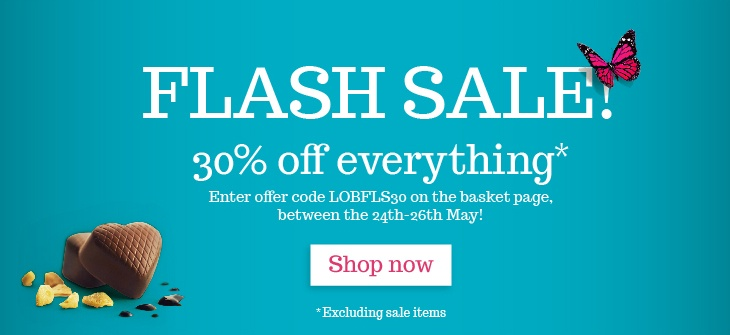 Flash Sale Now On! Save 30% on Scrumptious Chocolate collection until Sunday 26th May! Nom :)http://www.lilyobriens.ie/
