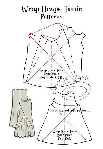 Pattern Puzzle - Wrap Drape Tunic