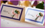 'Duclie' design wedding place cards http://www.pawprint-designs.co.uk/dulcie-pocketfold-invite.htm