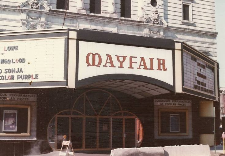 Mayfair theatre baltimore 1985 thomas paul kilduffs
