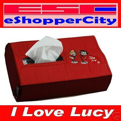 I Love Lucy Tissue Box Holder Car Accessary