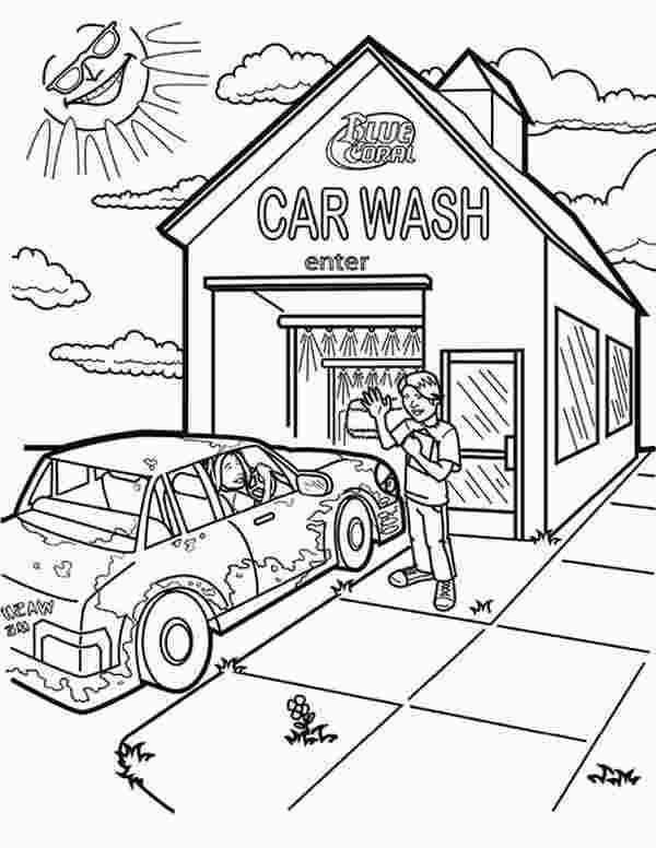 Car Wash Coloring Pages Race Car Coloring Pages Free Coloring Pages