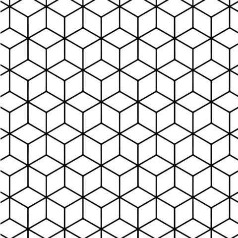 Patterns Coloring Pages To Print. Geometric Tessellation with Rhombus Pattern coloring page from  Tessellations category Select 26768 printable crafts 1038 best Color book images on Pinterest Colouring pages Adult