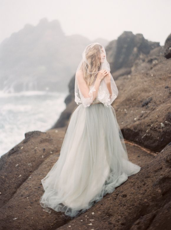 Grey wedding dress inspiration - Greer Gattuso Photography