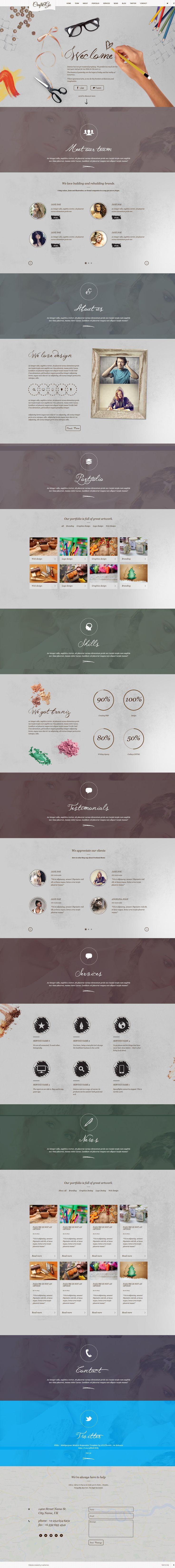 Craft&Go - Parallax OnePage Modern WordPress Theme http://themeforest.net/item/craftgo-parallax-onepage-modern-wordpress-theme/6073928?ref=wpaw #wordpress #web #design