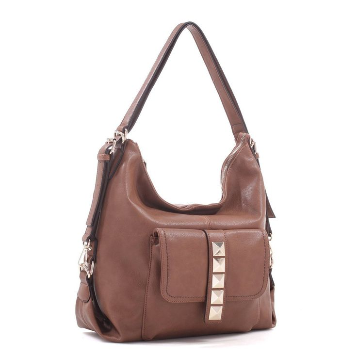 Concealed Carry Hobo Backpack Purse with Holster Left Hand Draw Right Hand Draw Brown