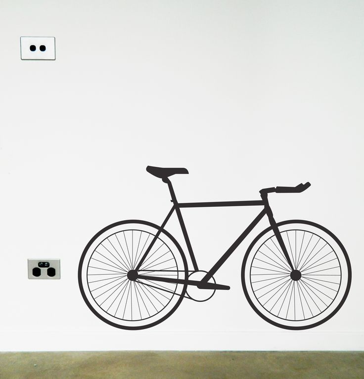 Bicycle removable wall sticker decal https://www.moonfacestudio.com.au/product-page/bicycle-fixie-vinyl-wall-sticker-decal