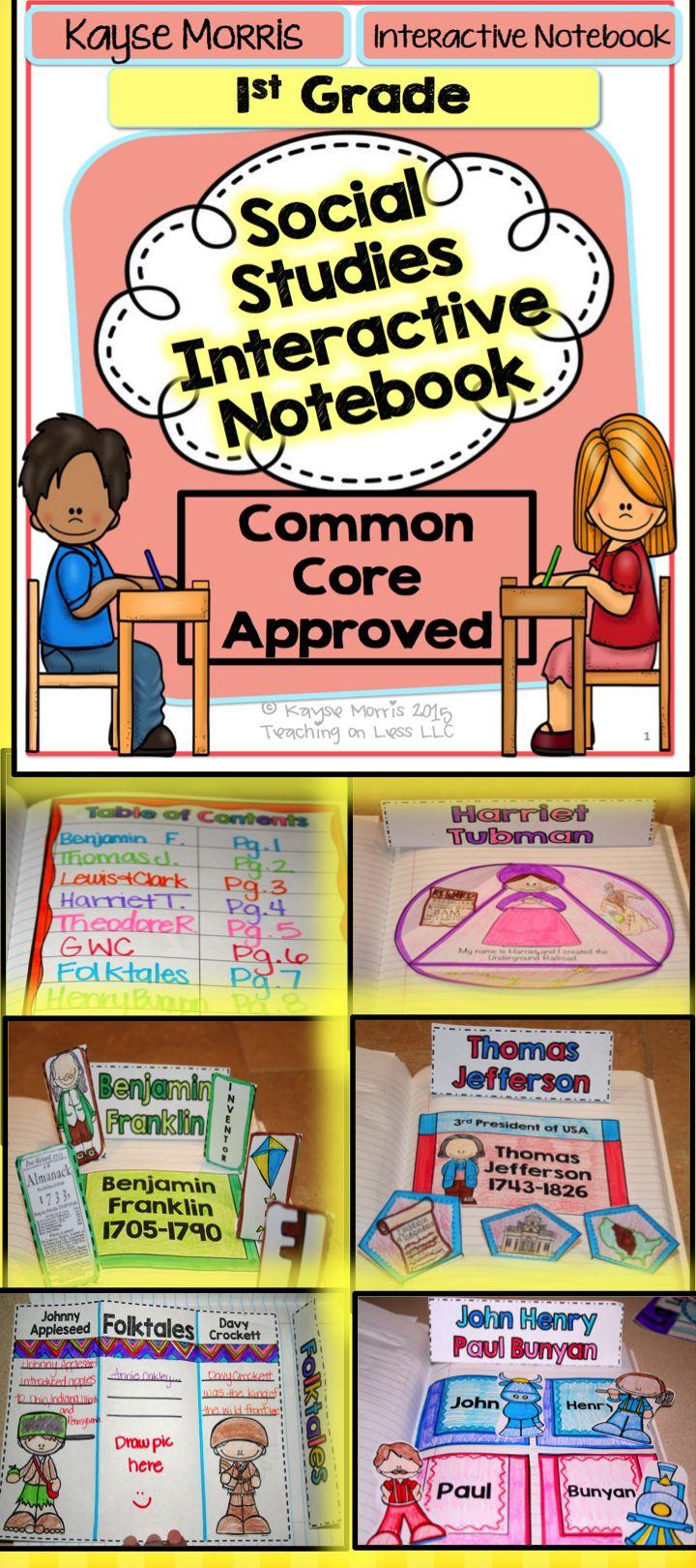 Social Studies Interactive Notebook  1st Grade Kayse Morris Teachers Pay Teachers It POPS UP!!