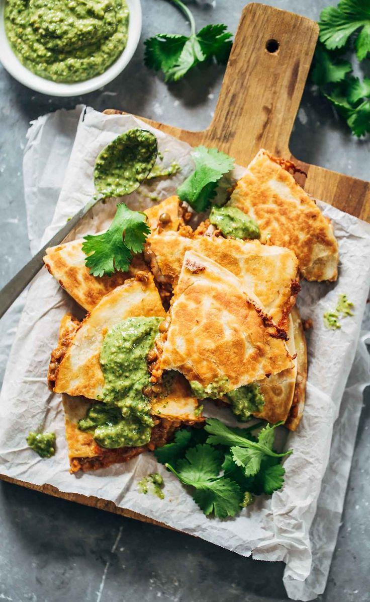 quick & easy lentil quesadillas