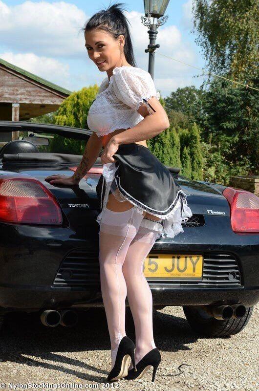 Big girls in stockings
