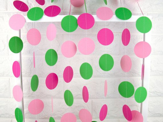 Watermelon Party Decorations Birthday Garlands Green by GroupPhoto