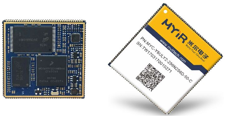 The MYC-Y6ULX CPU Module is covered with shield and powered by NXP i.MX 6UltraLite / 6ULL processor based on the ARM Cortex-A7 architecture.
