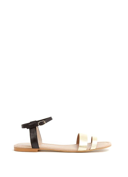 Gold & Black Khloe Sandal