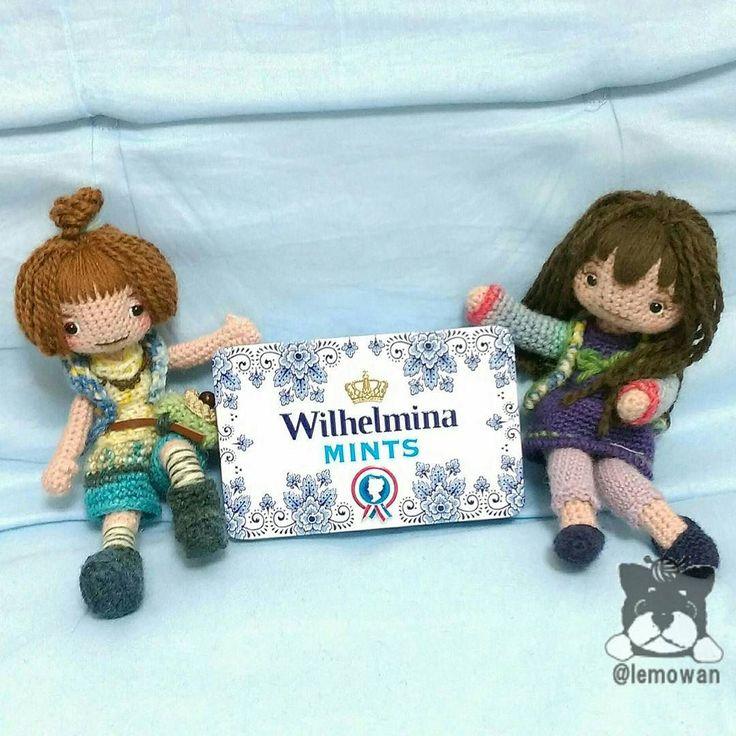 こちらもゲット オランダ王室御用達大粒ミントタブレット缶 深さがあって色々使えそうだよ #amigurumi #crochet #doll #handmade #knit #wool #あみぐるみ #缶 by lemowan