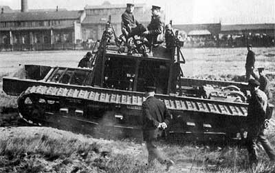 Sea trials of the first A7V chassis Berlin-Marienfelde, April-May 1917