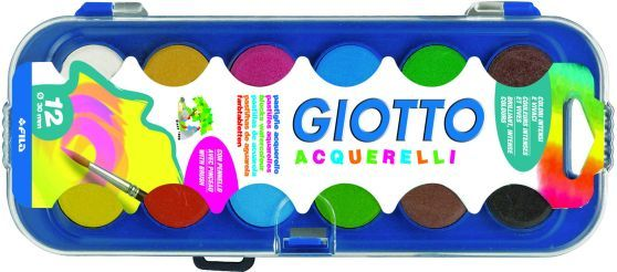 Giotto Νερομπογιά-12 Χρώματα (331000)