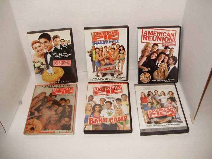 American Pie Trilogy DVD Lot Of 6 Band Camp Wedding The Naked Mile Reunion A57  #AmericanPie
