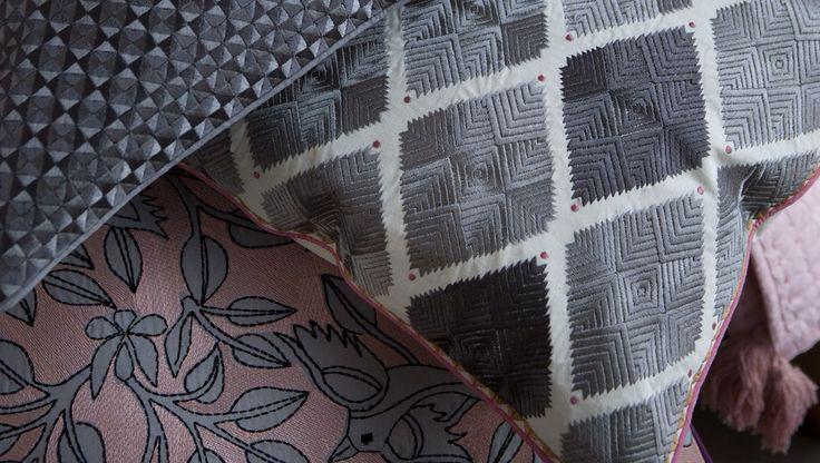 Diamond grey cushion