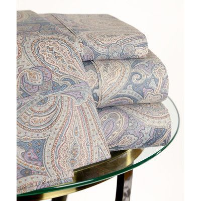 Hotel New York 200 Thread Count Paisley Sheet Set Size: Queen