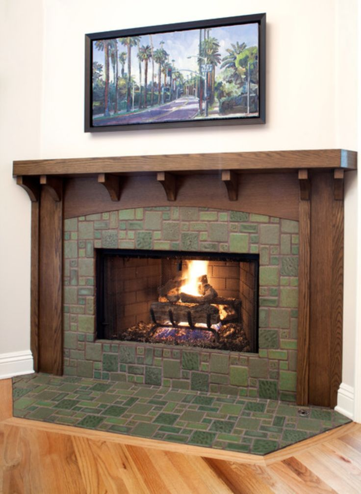 17 best images about bend nw on pinterest brushed nickel for Craftsman fireplace pictures