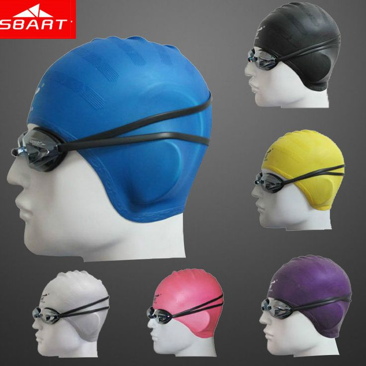 SBART Silicone Swimming Cap Women Waterproof Ear Swimming Caps For Long Hair Diving Hat Adult Swim Cap With Ear Cup Brand 2015 R