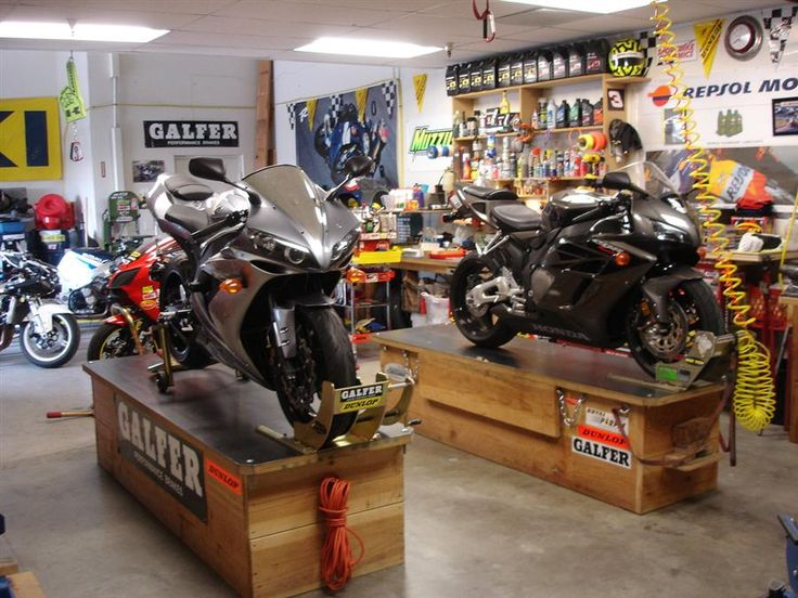 1000 ideas about motorcycle garage on pinterest for Motorcycle garage plans