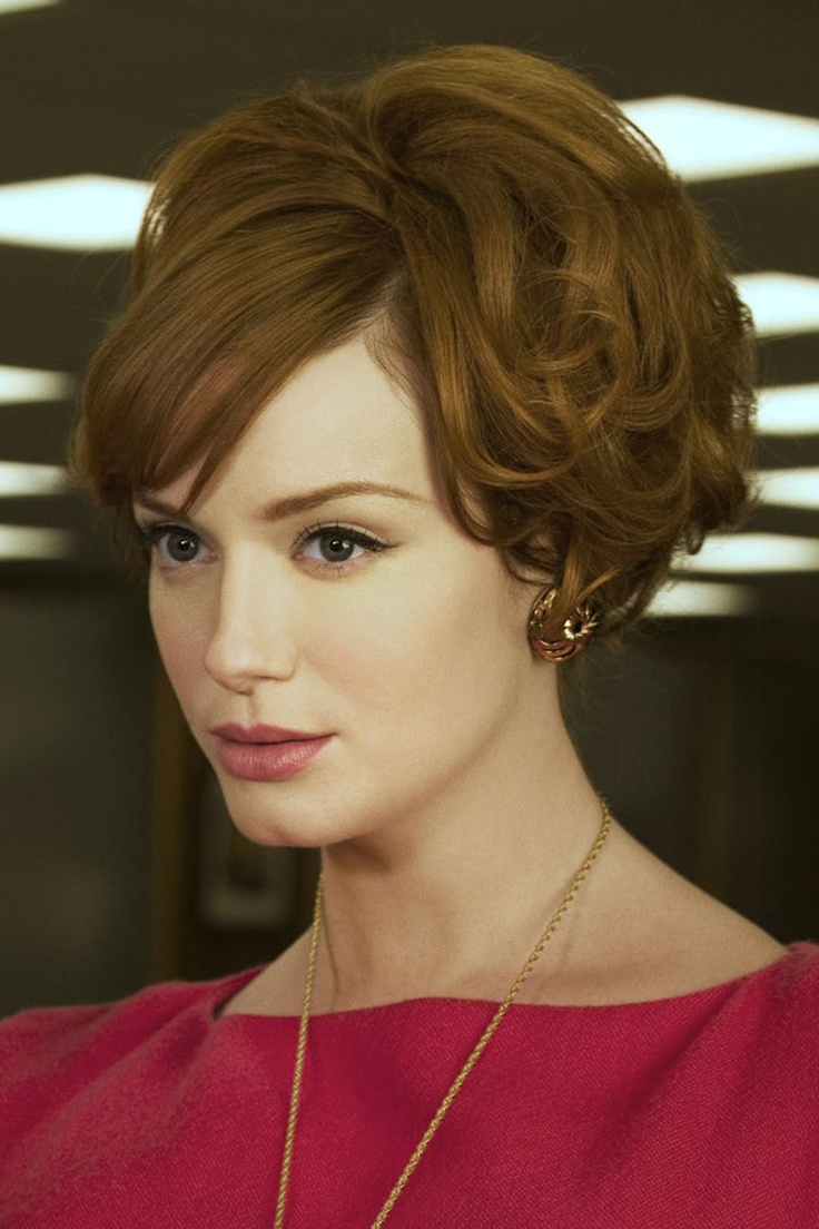 Mad Men's Joan with beautiful vintage day makeup. My inspiration for being ginger, and these eyebrows are everything.