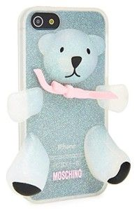 Moschino Iphone 5 Case Bear Pink Bow Grey New Box