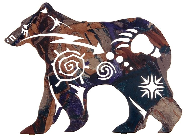"Native American Bear Designs | 12"" Spirit Bear Wall Art by Robert Shields"