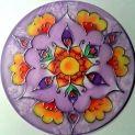 Mandala 20 cm silk painting